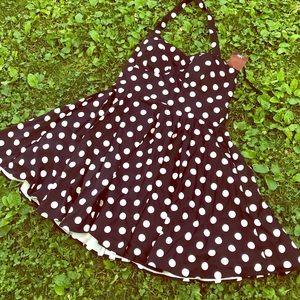 NEW 50s Pinup Swing Dress ⚫️⚪️